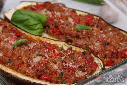 Receita de Berinjela recheada especial em receitas de legumes e verduras, veja essa e outras receitas aqui!