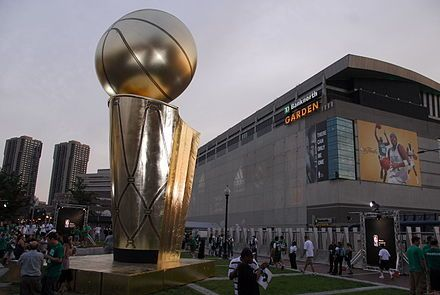 The TD Garden, seen here during the 2008 NBA Finals, has been the Celtics' arena since 1995.