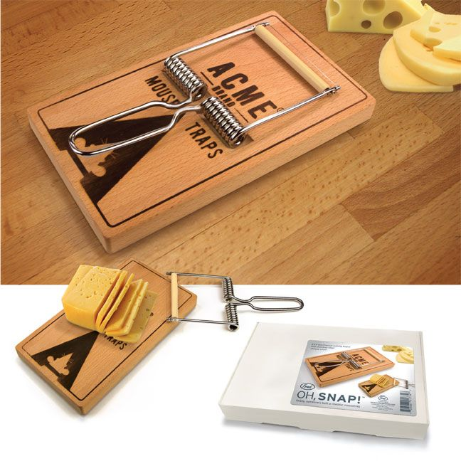 Oh Snap Mouse Trap Cheese Cutting Board Fred U0026 Friends New Beechwood Unique  Gift In Home U0026 Garden, Kitchen, Dining U0026 Bar, Kitchen Tools U0026 Gadgets, ...