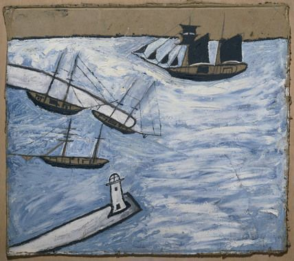 St Ives Harbour, Cornwall - Alfred Wallis