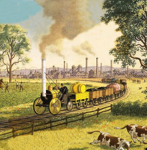 What effect did the second Industrial Revolution have on transportation?