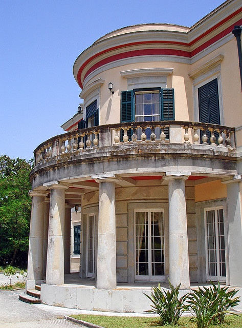Tatoi Palace at Mon Repos. Was the summer palace for the Greek Royal family. Birthplace of Prince Phillip of England. Corfu, GREECE. (by Ava Babili, via Flickr)