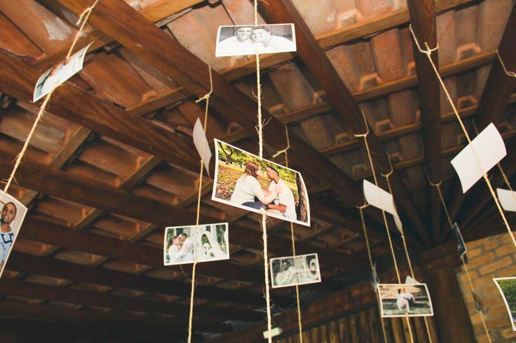 Decoração para sitio, decoração rustica, DIY, Tamires Araújo Fotografia, decoração casamento ao ar livre, varal de fotos