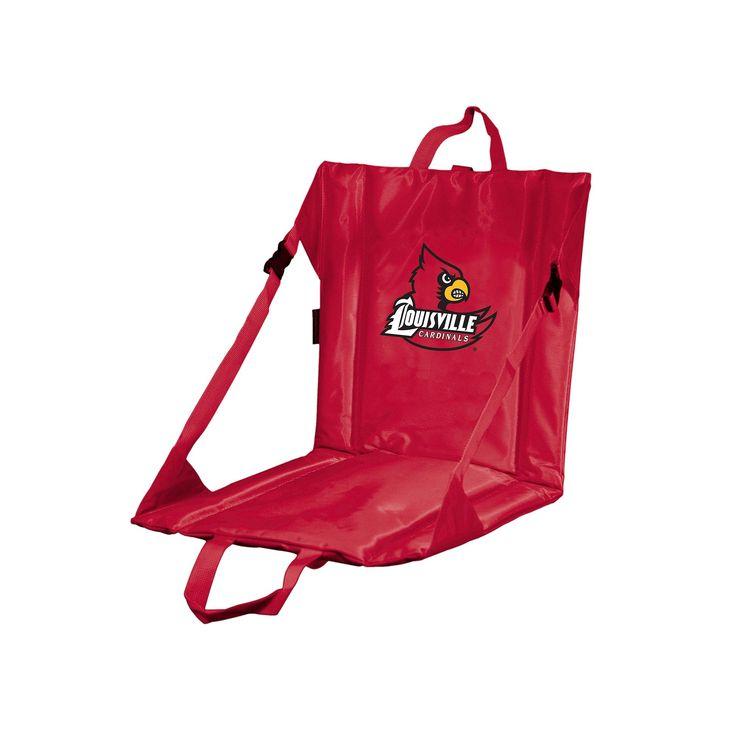 Logo Brand Louisville Cardinals Folding Stadium Seat, Multicolor