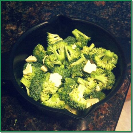 Micro Cooker Broccoli **I used frozen broccoli, lemon juice, margarine, and garlic. Very good and easy. For the frozen broccoli, heat for 8 min.