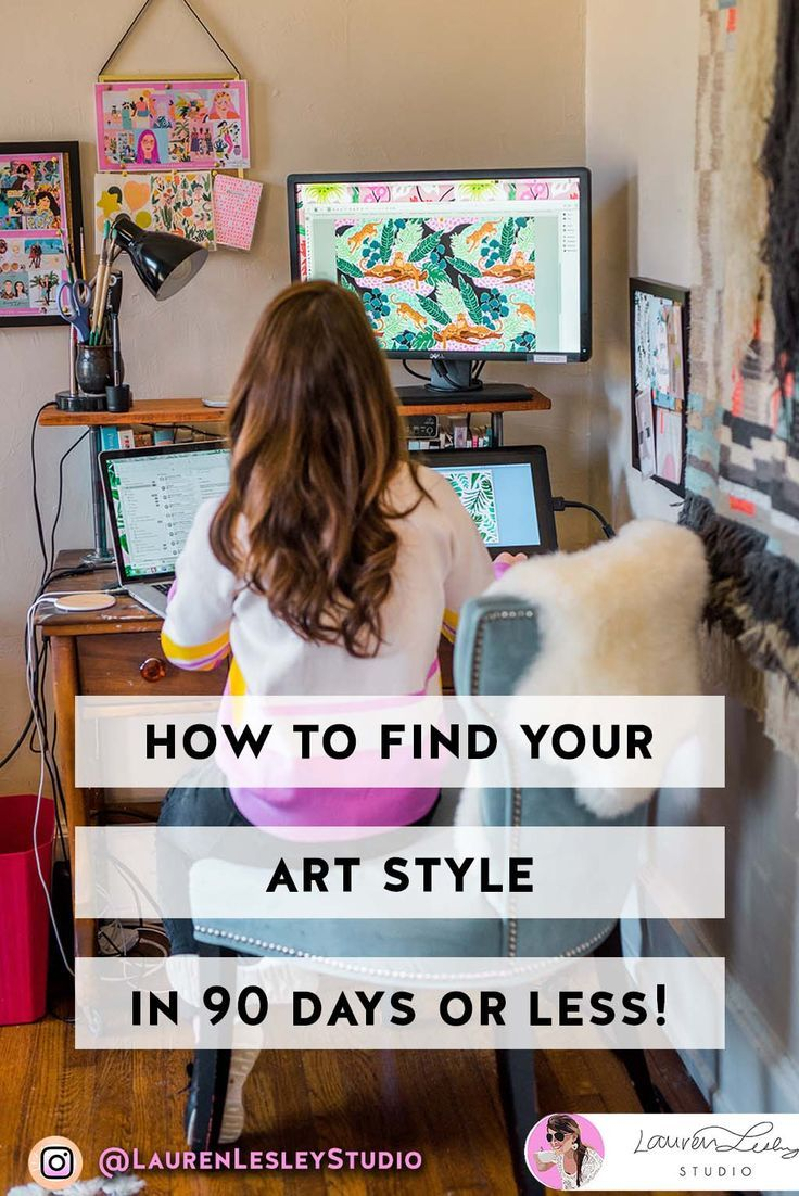 Find Your Art Style In 90 Days Or Less Find Your Drawing Style Lauren Lesley Studio Types Of Art Styles Art Style Challenge Simple Art