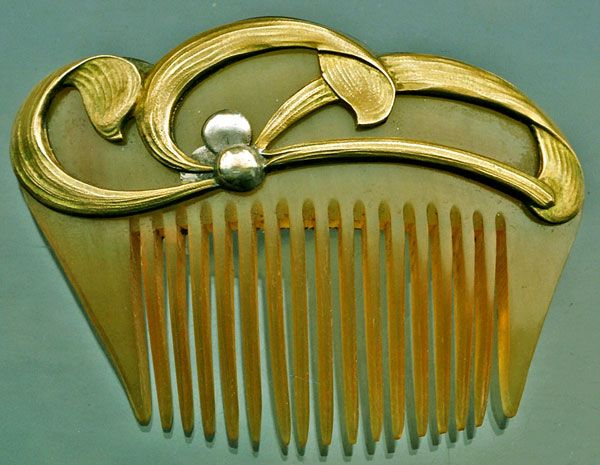 17 best images about art nouveau hair combs on pinterest for Metal hair combs for crafts