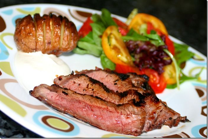 Steak with Bourbon & Brown Sugar Barbecue Sauce