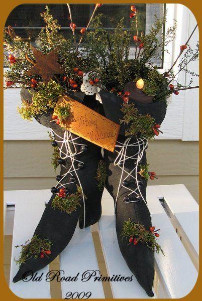 Stuffed Witch Boots Pattern