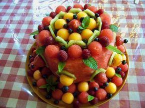 Cuisine en folie: Watermelon cake ou gâteau de pastèque et de fruits