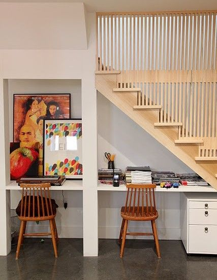 Lighting Basement Washroom Stairs: 1000+ Ideas About Desk Under Stairs On Pinterest