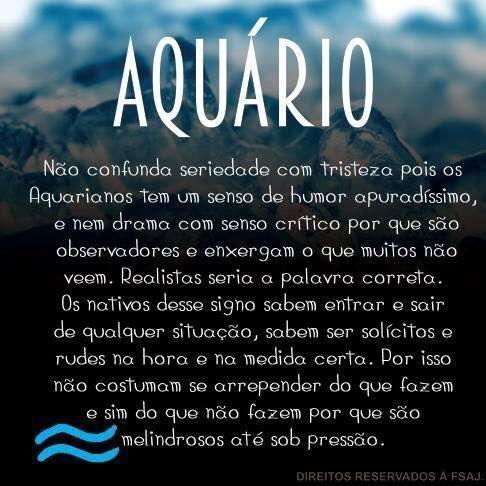 Signo de aquário ♒️                                                       …