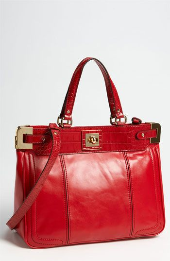 Milly 'Amelia' Tote with Croc Embossed Trim