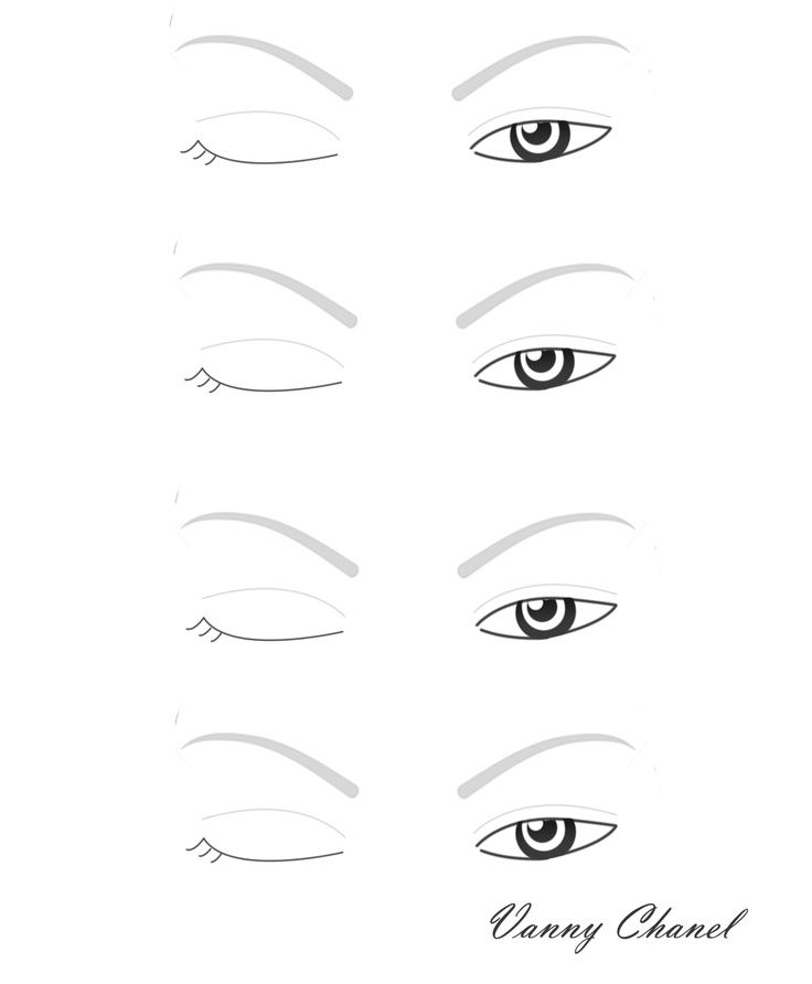 Eye Makeup Blank Template