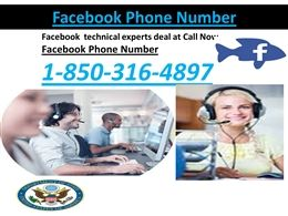 Facebook phone number: a one-estimate fits-all helpline 1-850-316-4897The Facebook phone number is only a straightforward telephone utility which is being utilized by the billions of Facebook account holders on a semesterly premise. Once the Facebook account holder is all prepared, the client needs to dial the sans toll telephone number 1-850-316-4897which is serviceable all through the globe. In such a way, the most-fitted customer administration can be acquired in a couple of basic and…