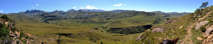 The trail into Lesotho winds up and up...
