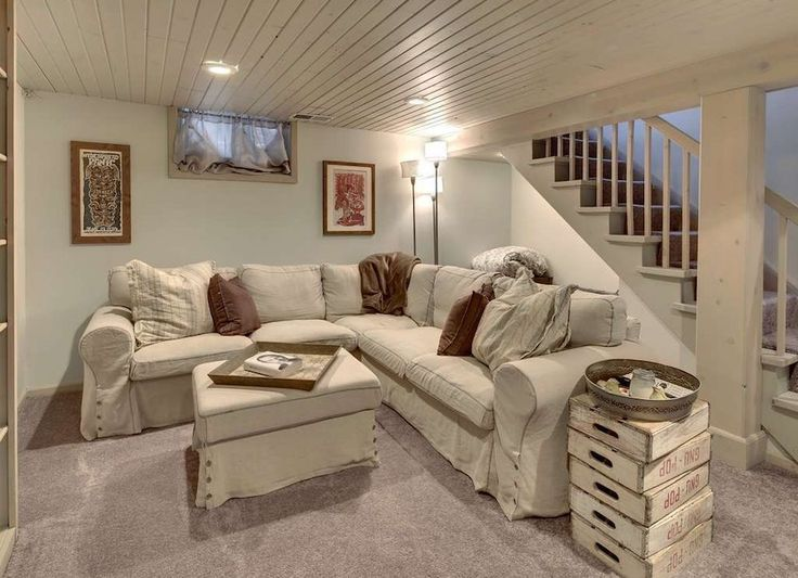 Painted Wood Plank Ceiling - Basement Ceiling Ideas - 11 Stylish Options - Bob Vila