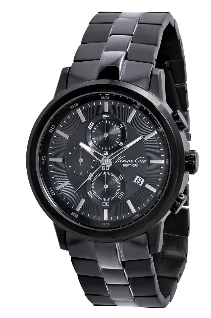 IKC9226 | 2,798 kr UPC: 020571100145 GUNMETAL IONIC PLATED ROUND CASE , BLACK IONIC PLATED BEZEL , BLACK DIAL WIT H APPLIED MARKERS AND CD CUT TEXTURE , MINERAL GLASS CRYSTAL , THREE EYE CHRONOGRAP H MOVEMENT COUNTS MIN UTES / SECONDS /24HOURS , GUNMETAL AND BLACK PLATED STEEL BRACELET WIT H TWO BUTTON FOLD -OVER CLASP. 46MM CASE 3 ATM Hitta butiker på www.swgroup.se