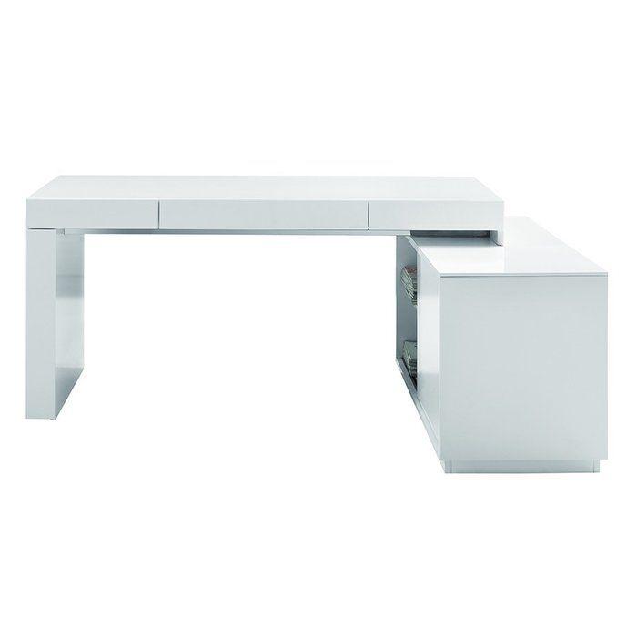 Camron L Shape Executive Desk Contemporary Office Desk Modern Office Desk White Desk Office