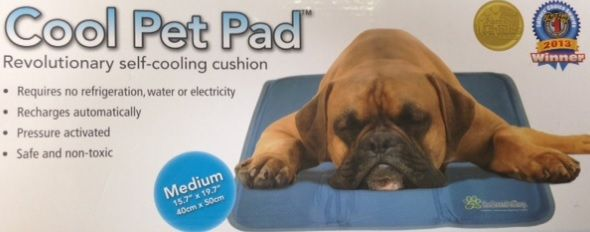 Cool Pet Pad!   Recharges automatically  Safe & Non-toxic Pressure Activated   Comes in: Small, Medium, Large