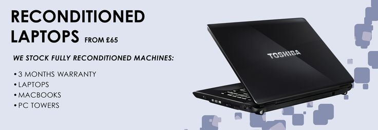 The Laptop Shop Reconditioned Laptops work near to factory new machines. We give a 3 month warranty with all laptops. Certain machines have 12 months.