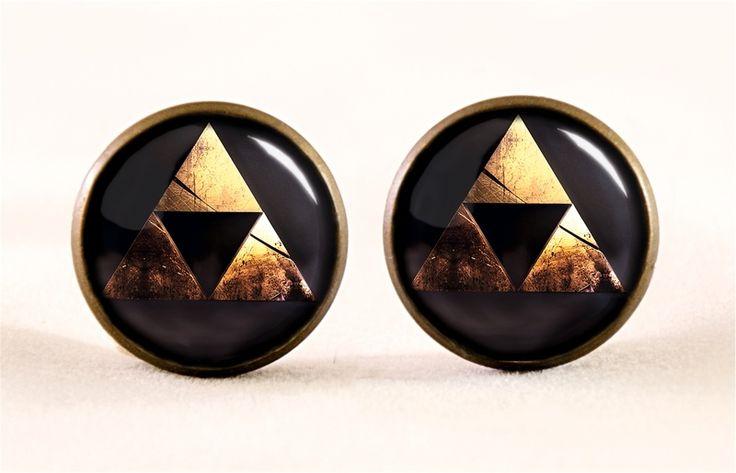 Zelda Triforce Stud earrings, 0531ESB from EgginEgg by DaWanda.com