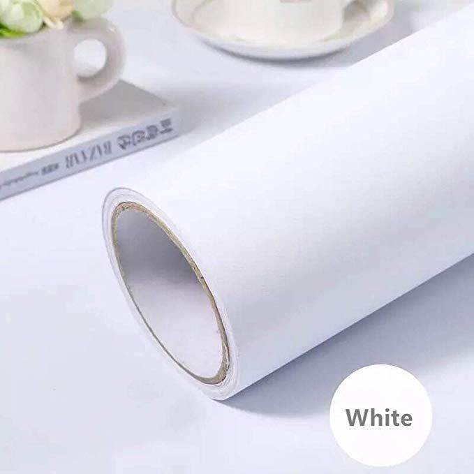 Amazon Com White Self Adhesive Wallpaper Film Stick Paper Easy To Apply Peel And Stick Wallpaper Stick Wallpaper Shelves Peel And Stick Wallpaper Shelf Liner
