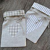 Подарки к праздникам ручной работы. Ярмарка Мастеров - ручная работа Мешочки для трав или для подарков (лен). Handmade.