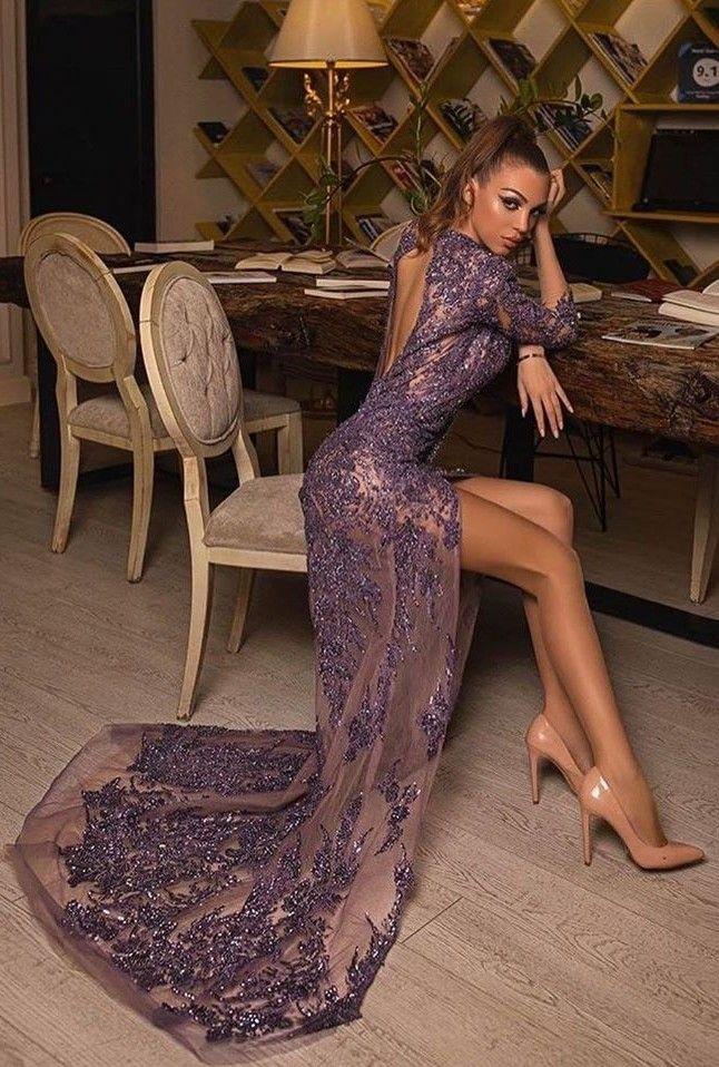luxus abendkleider lang glitzer  abiballkleider