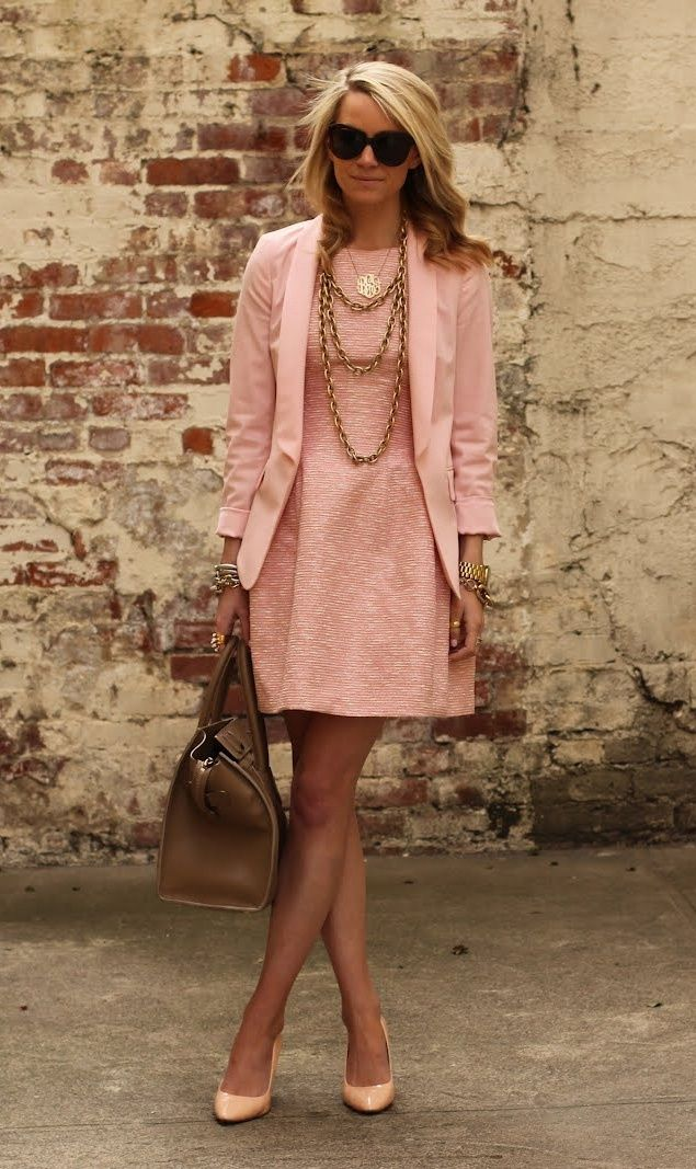 Glam Bistro - I like the style. Would the length of the jacket still look good with a knee length dress.....