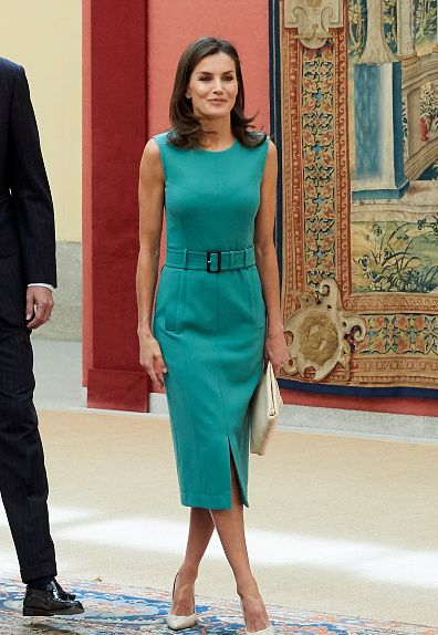 Queen Letizia Brought Back the Stunning Look from Argentina for Foundation Meeting