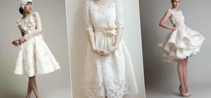 Короткие свадебные платья с кружевом - http://1svadebnoeplate.ru/korotkie-svadebnye-platja-s-kruzhevom-2630/ #свадьба #платье #свадебноеплатье #торжество #невеста