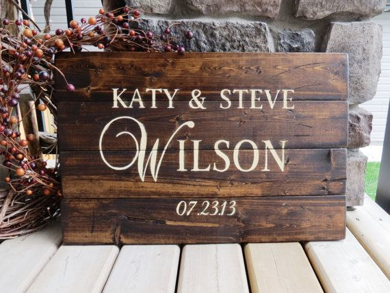Your Family Name Customized Wood Sign - Established Date Sign, Rustic, Distressed, Country, Farmhouse, Shabby, Wood Plank, Home Decor on Etsy, $62.00