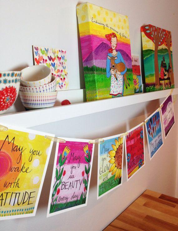 Grateful Heart Prayer Flags by LoriPortka on Etsy