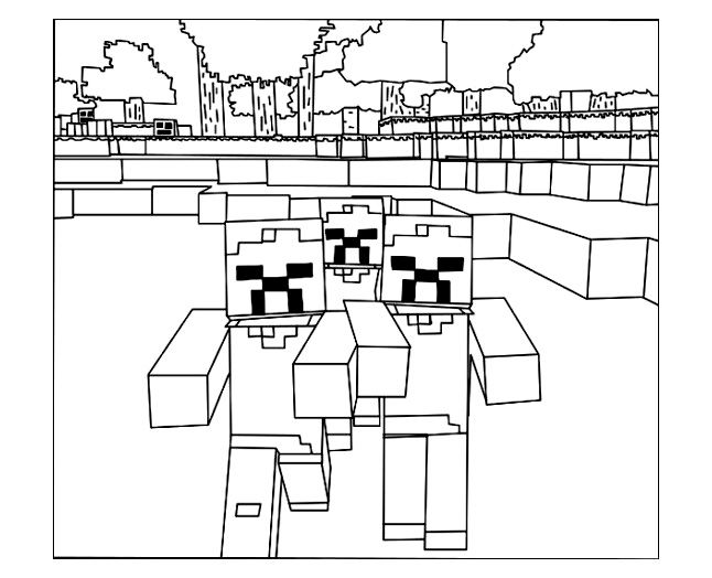 Minecraft Logo Coloring Sheet Coloring Pages