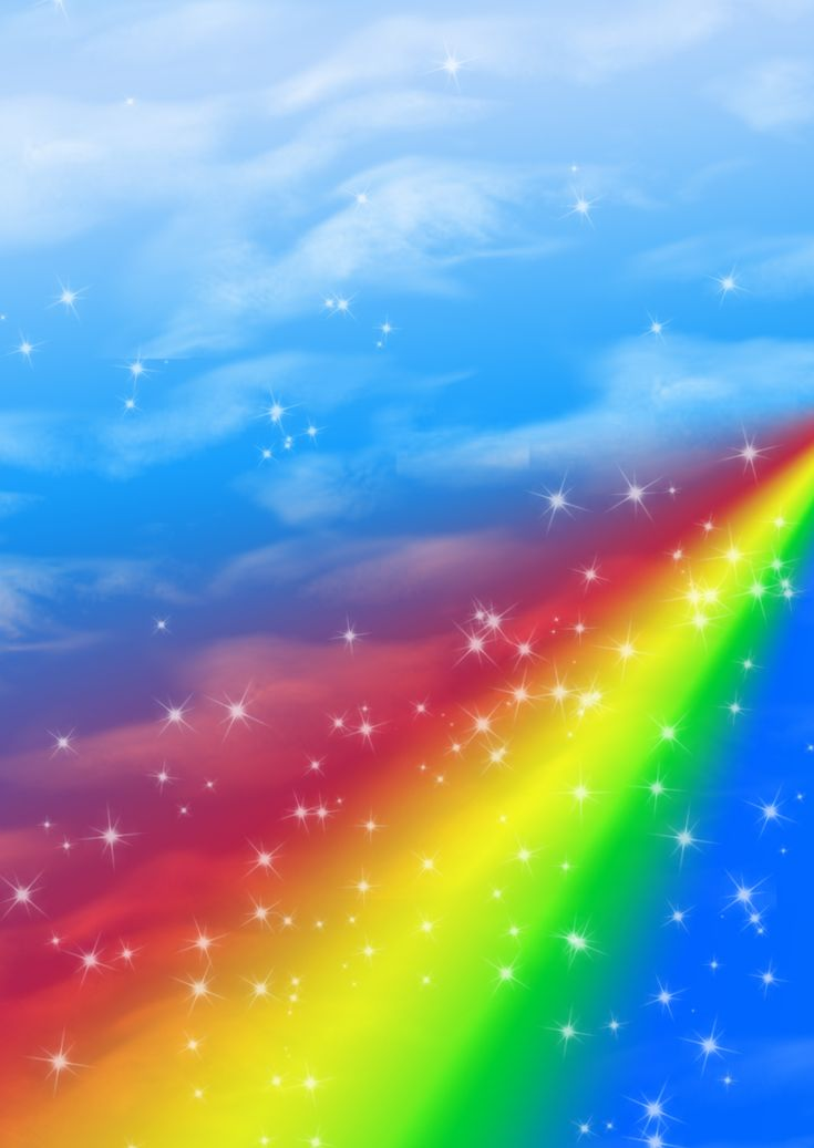 blue cloud with rainbow wallpaper - photo #8