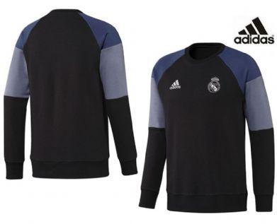 Sudadera negra Real Madrid Adidas 2017 adulto