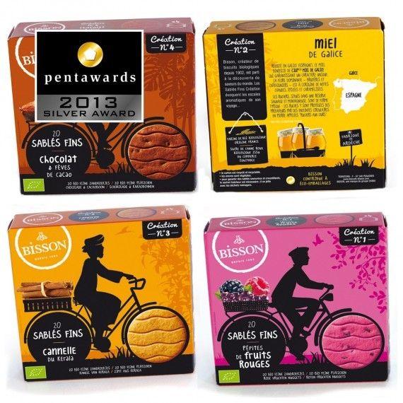 Design : Caracas pour la marque les sablés Bisson (France) // Catégorie : Pâtisseries, biscuits, desserts - #food #packaging et plus encore sur http://www.communication-agroalimentaire.com
