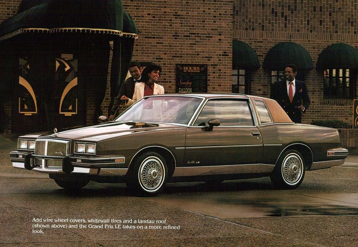 83' Pontiac Grand Prix...mine was blue With quarter white vinyl top!