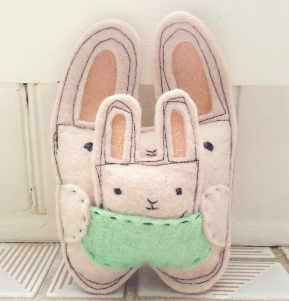 DIY bunny with a baby (1)
