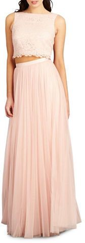 Donna Morgan Alexis Two-Piece Lace and Tulle Gown