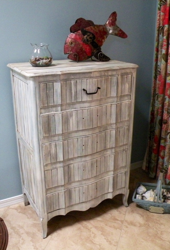 Wonderful Faux Painting Furniture Ideas Part - 13: Redone Antique Dresser With Driftwood Finish