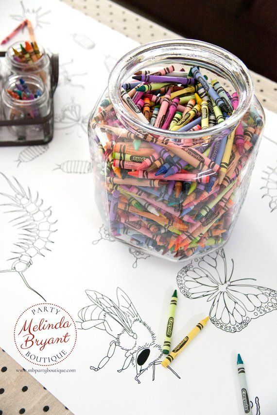 Insect Party Decorations Bug Birthday Decor Coloring Page Table