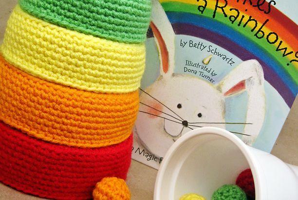 Crochet Pattern: Rainbow Nesting Bowls (rewritten)