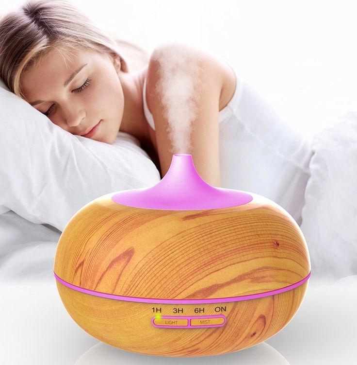 Amazon.com: PureZensation Aromatherapy Essential Oil Diffuser, Ultrasonic Whisper-Quiet Humidifier Aromatherapy, Wood Grain 300 ml Perfect Gift: Home & Kitchen