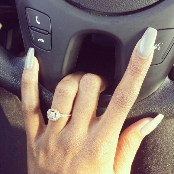 opi grey nails with ballerina shape n a i l s pinterest forme opi et gris. Black Bedroom Furniture Sets. Home Design Ideas