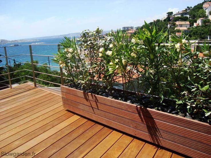 Bacs plantes bois sur mesure marseille