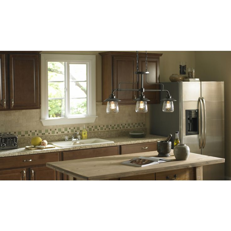 lighting kitchen ideas. shop allen roth bristow w mission bronze standard kitchen island light with clear shade at loweu0026 canada find our selection of lighting ideas