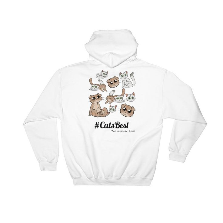 Hooded Sweatshirt (S-5XL)  https://thecapitaldolls.com      #Collection #fashionista #beauty #boutique #TheCats #follow #fresh #TheCapitalDolls #fashion #cats #shopping #style #fashionblogger #picoftheday #new  Everyone needs a go-to, cozy sweatshirt to curl up in, so go for one that's soft, smooth, and stylish. It's also perfect for cooler evenings!  • 100% Original and Unique design - The Capital Dolls is the only shop with the rights to sell Sass and Milli Collection! • 50% cotton/50%…