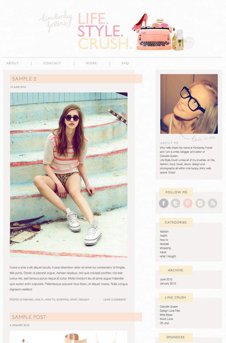 25 Best Ideas About Blog Layout On Pinterest Website